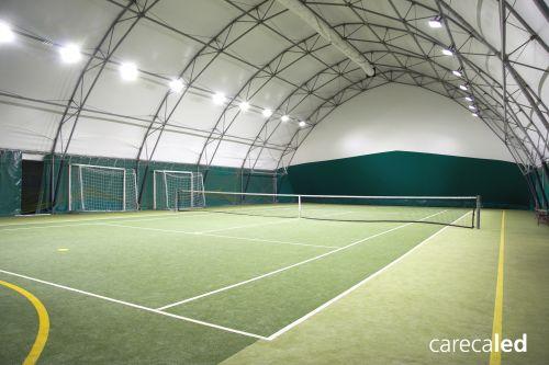 Carecaled illumina il primo campo da tennis con tecnologia a led in
